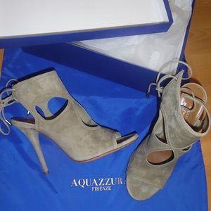 AQUAZZURA SEXY THING GREY 38 / 8 heels sandals